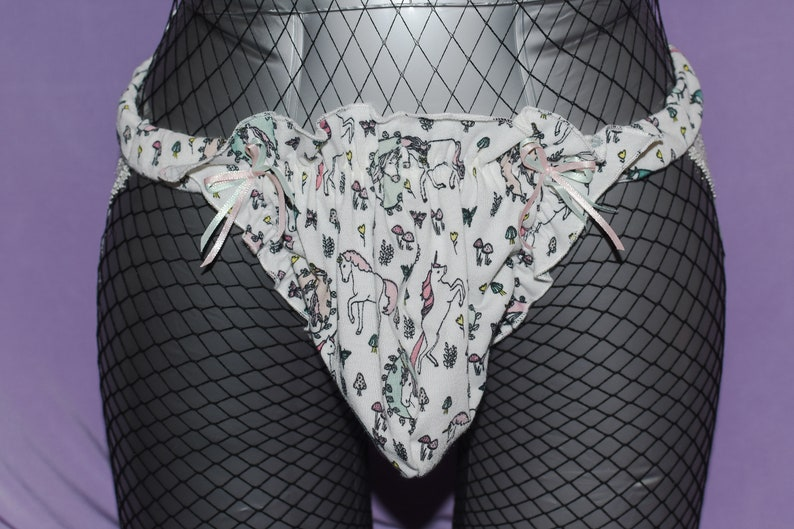 Wilfredo And Leigh Made Puffy Pouch Jock Strap Men/'s LXL Unicorn Panties for Men