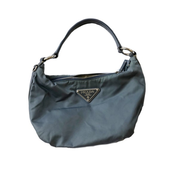 Prada Nylon Teal Blue Shoulder Hobo Bag