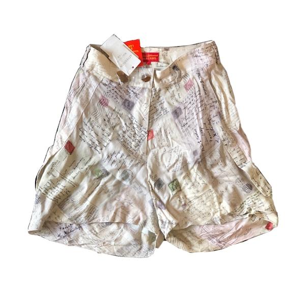 Vivienne Westwood red label postcard print shorts