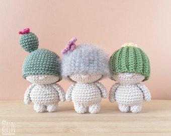 Crochet cactus pattern • A 3-in-1 amigurumi diy pdf tutorial