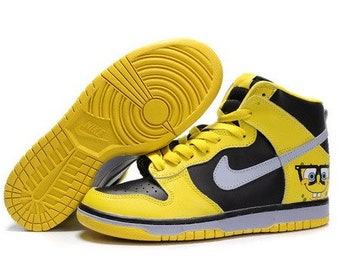 premium selection c1878 9ce17 Custom Nike Dunk High Spongebob