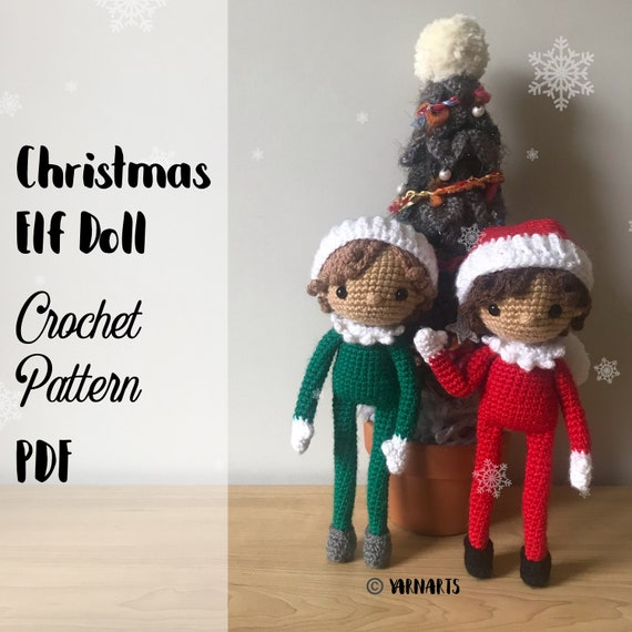 Christmas Elf Doll .CROCHET PATTERN ONLY