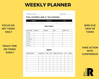 Weekly Planner and Habit Tracker