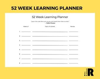 52 Week Learning Planner