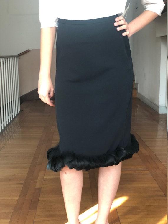 Black Formal Skirt, Pencil Skirt, Black Pencil Mid