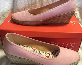 1c8f7624cb5a Vintage Pink Espadrille Wedge