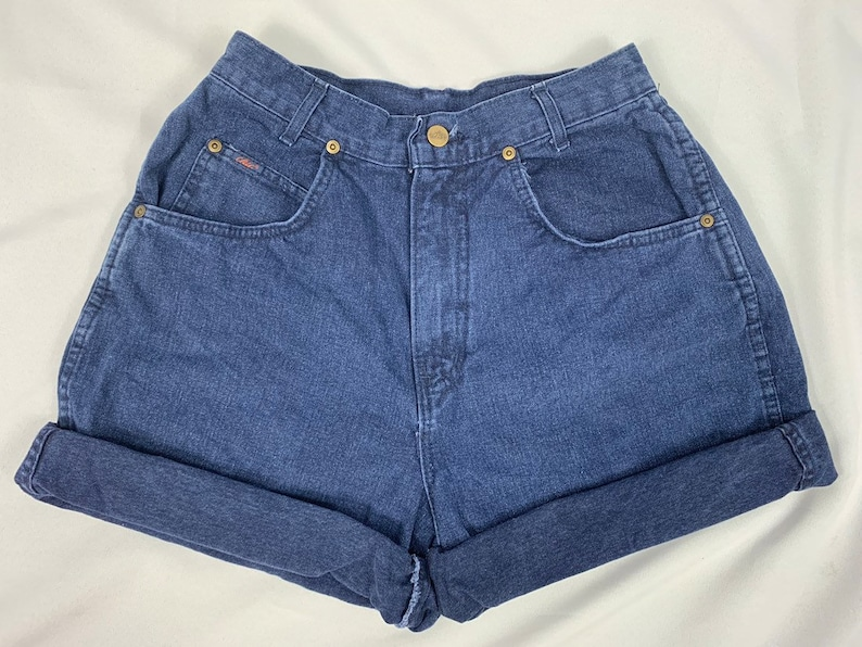 Mom Jeans Chic Jeans Mom Shorts 90s Women/'s High Waisted Shorts Festival Size 11 28 Waist Vintage High Rise Dark Wash
