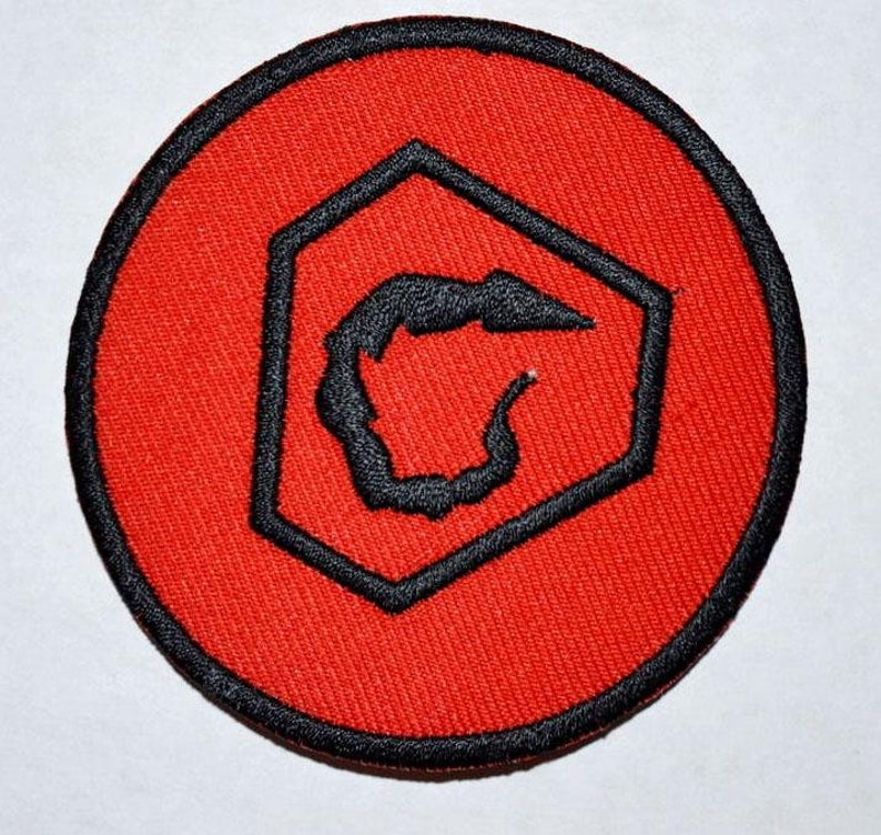 Guns and Coffee badge Iron or Sew on Embroidered Patch UK Seller