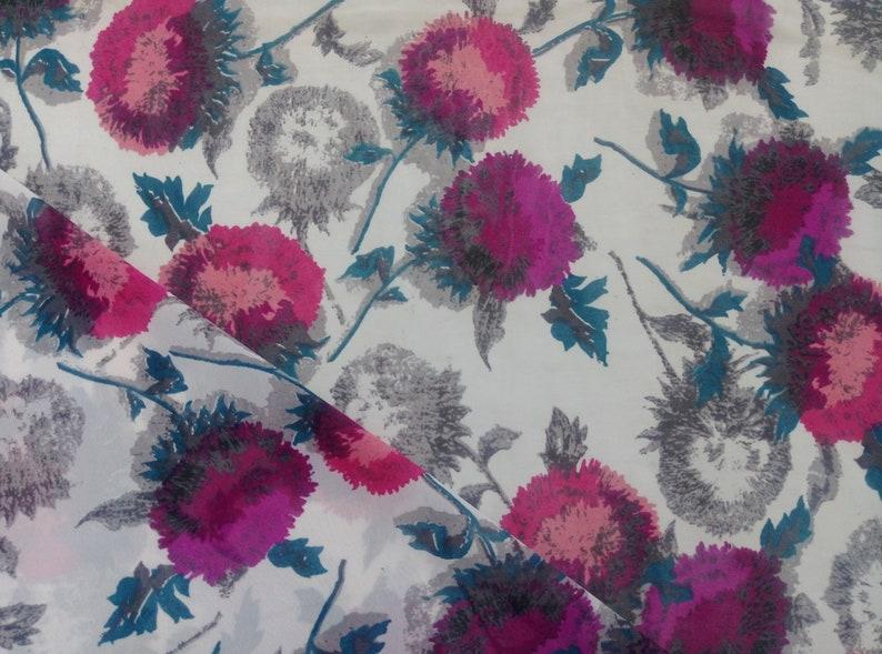 Poly Georgette Fabric Floral  Digital Print 44 3 Yards Crafts Sewing