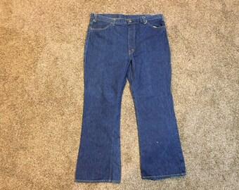 c6b977f0303 Vintage 60s Levis Big E Bellbottom Jeans