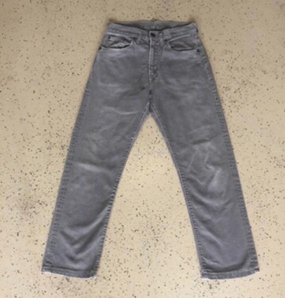Vintage 60s Grey Levis Big E Corduroy Pants