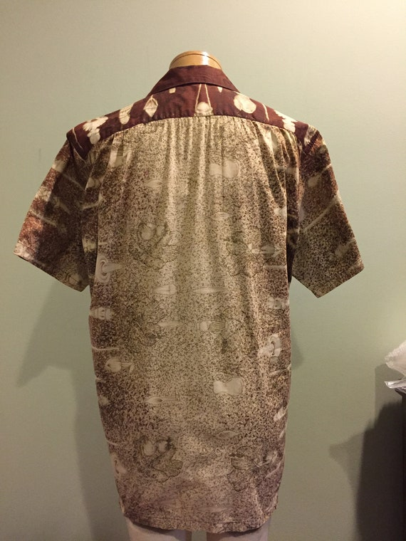 Beautiful Rare Vintage 1950's Konakai Cotton Hawa… - image 2