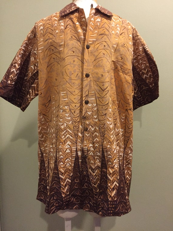 Vintage 1950's Cotton Hawaiian Shirt