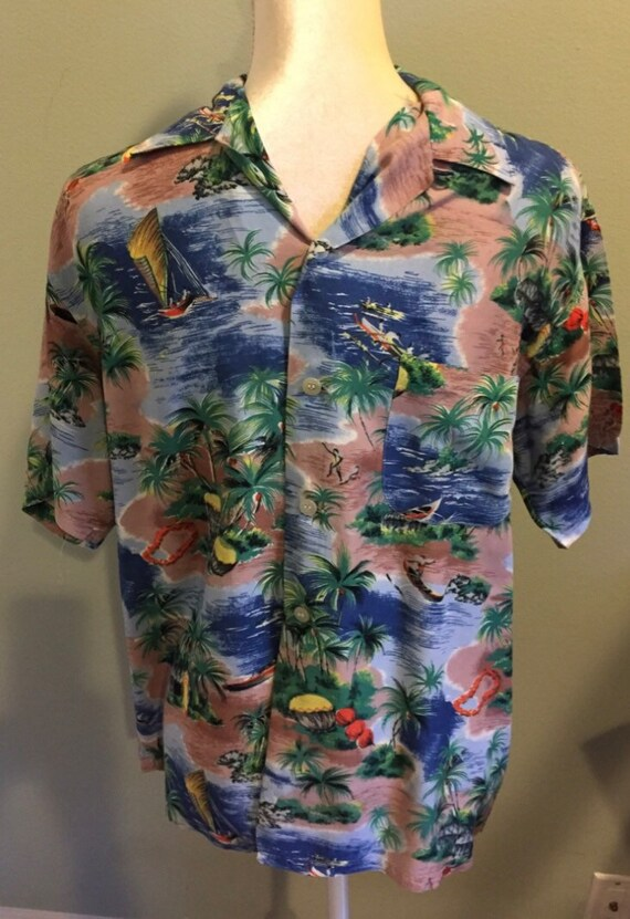 Vintage 1950's Hawaiian Shirt