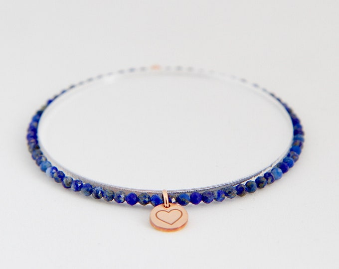 Lapis lazuli and 9 kt rose gold bracelet