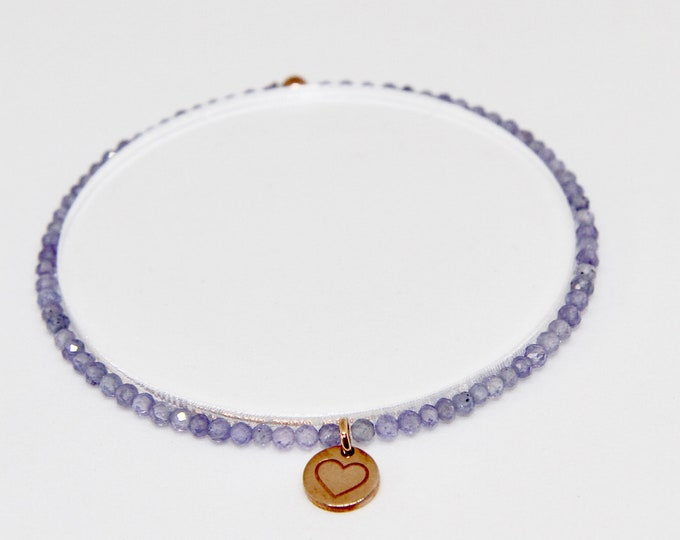 Tanzanite and 9 kt rose gold bracelet