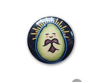 "Holy Guacamole - 1"" BUTTON - Vegan Foodie, Badge, Vegan Food, Veganism"