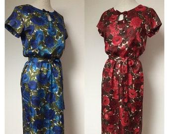 UNWORN 50s shift dress, 60s shift dress, 50s novelty print dress, 60s novelty print dress, 50s dress, 60s dress, 50s wiggle dress, Size S-M