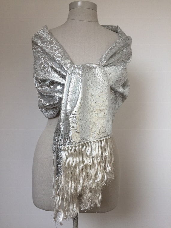 UNWORN 50s evening wrap, 50s Lurex Wrap, 50s Wrap,
