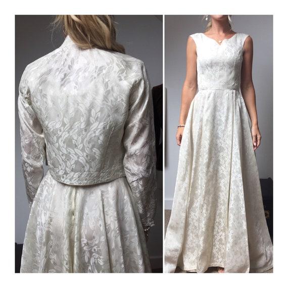 1940s Ivory wedding dress and jacket, 40s Wedding