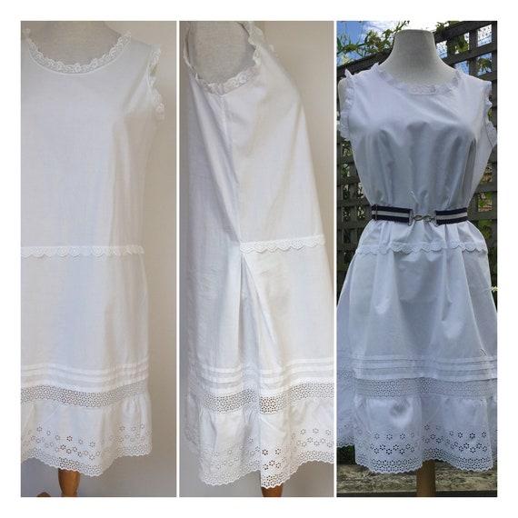 1920s cotton slip nightgown camisole