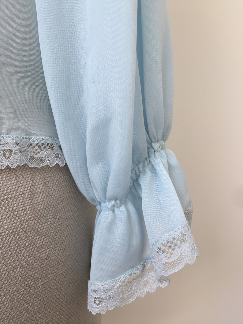 Vintage bed jacket with long sleeves