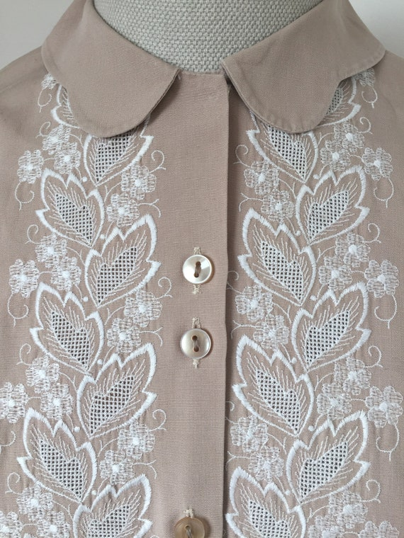 1940s Embroidered Blouse, Late 40s Blouse, 1940s … - image 2