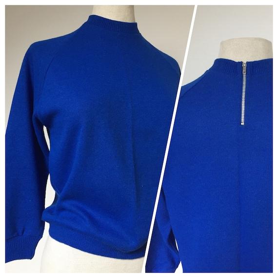 50s jumper, 50s sweater, 50s three quarter sleeved