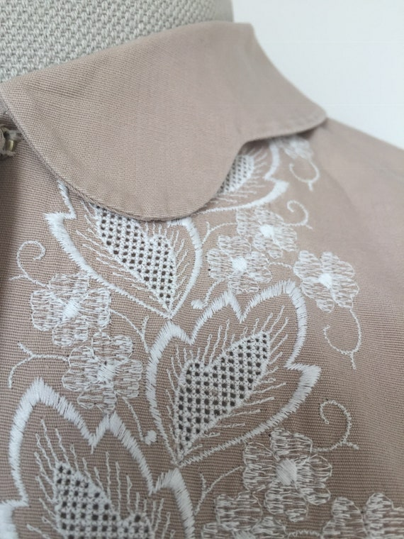 1940s Embroidered Blouse, Late 40s Blouse, 1940s … - image 8