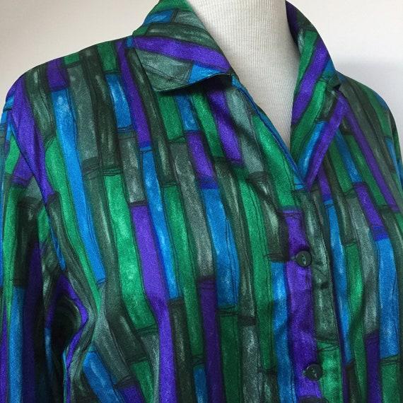 50s DEADSTOCK Blouse, 50s Shirt, 50s Long Sleeved