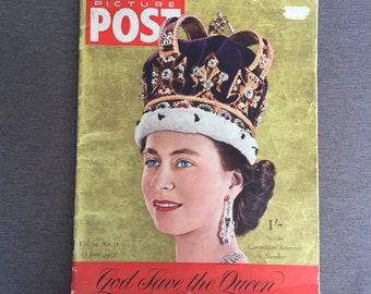 1953 Picture Post Coronation Special, Picture Post Vol 59 No 11, 50s Vintage magazine