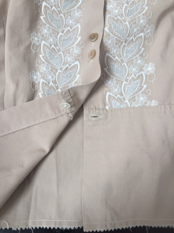 1940s Embroidered Blouse, Late 40s Blouse, 1940s … - image 10