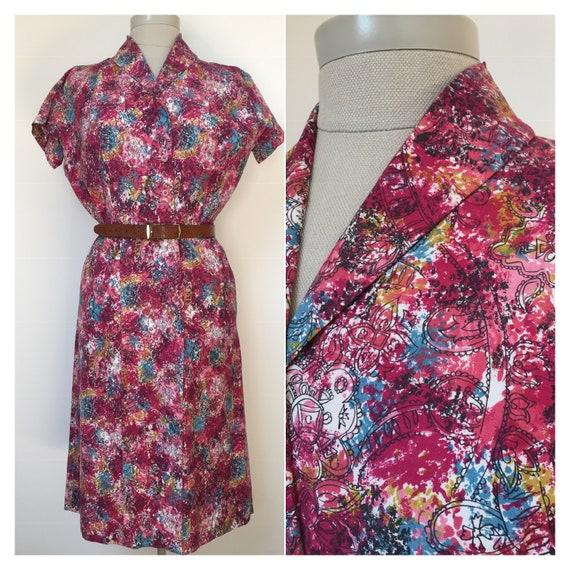 1940s Day Dress, 40s dress
