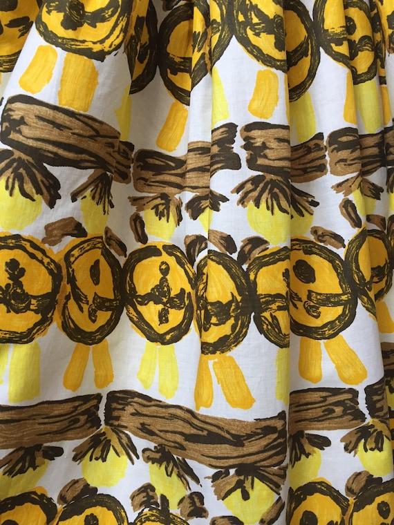 1950s Novelty Print Skirt - image 6