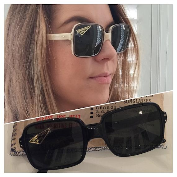 DEADSTOCK 60s 70s Selecta Sunglasses, 60s Square S