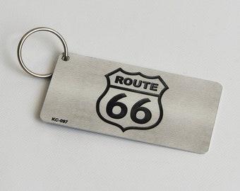 Rt 66 Custom Personalized Novelty Auto Motorcycle Moped Mini Bike Key Chain License Plate