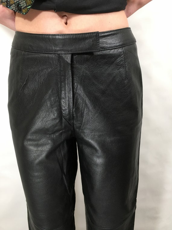 Vintage Leather Pants  80/'s  Black High Waisted  30  Womens Size 10  Wilsons Leather  Motorcycle  Biker