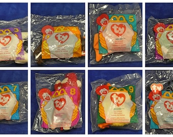 a65eb2c09c5 McDonald s Ty 1996 mini Beanie Babies (Sold Separately)(Note Availability)
