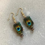 ON SALE Eye-catching handmade blue & green Peacock Earrings, Mother's Day earrings, unique earrings, FREE shipping Special Edition