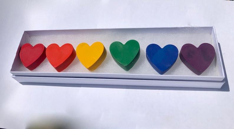 Rainbow Heart Crayon Set