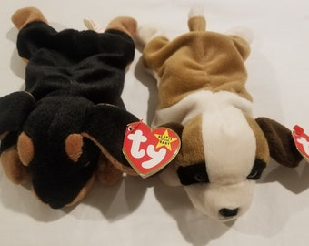 Collectible Set of 2 Retired Ty Beanie Babies