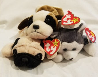 Collectible Set of 3 Retired Ty Beanie Babirs!