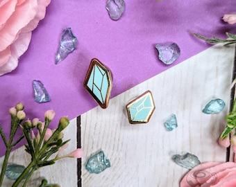 Mini Crystals Enamel Pin // Board Filler, Halloween, Witch, Cute, Kawaii