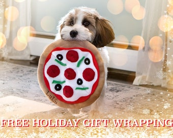 Personalized Pizza Dog toys. frisbee, fetch,dog toy, Snuffle Mat, Dog Gift, Agility Training, Interactive, Sniff and Seek toy, Pet nose work