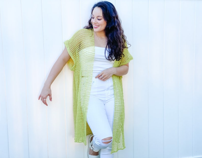 Crochet pattern//An oversized extra long maxi style summer image 0