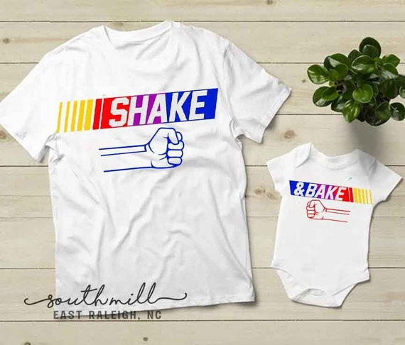 Shake and Bake Dad and Baby Matching Shirt Set