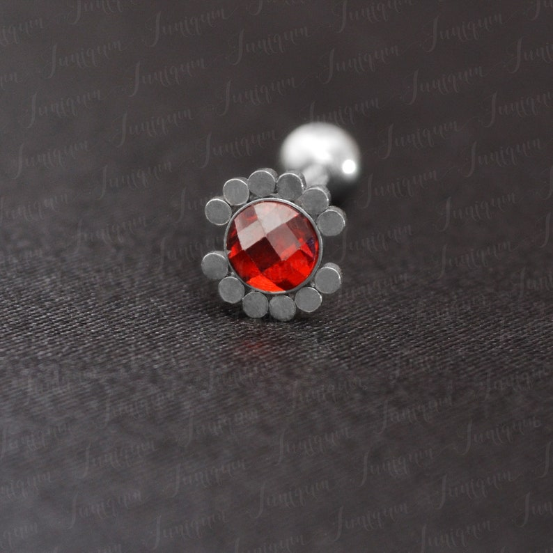 Tongue piercing Surgical steel tongue ring Body piercing jewelry. Barbell ring Barbell piercing