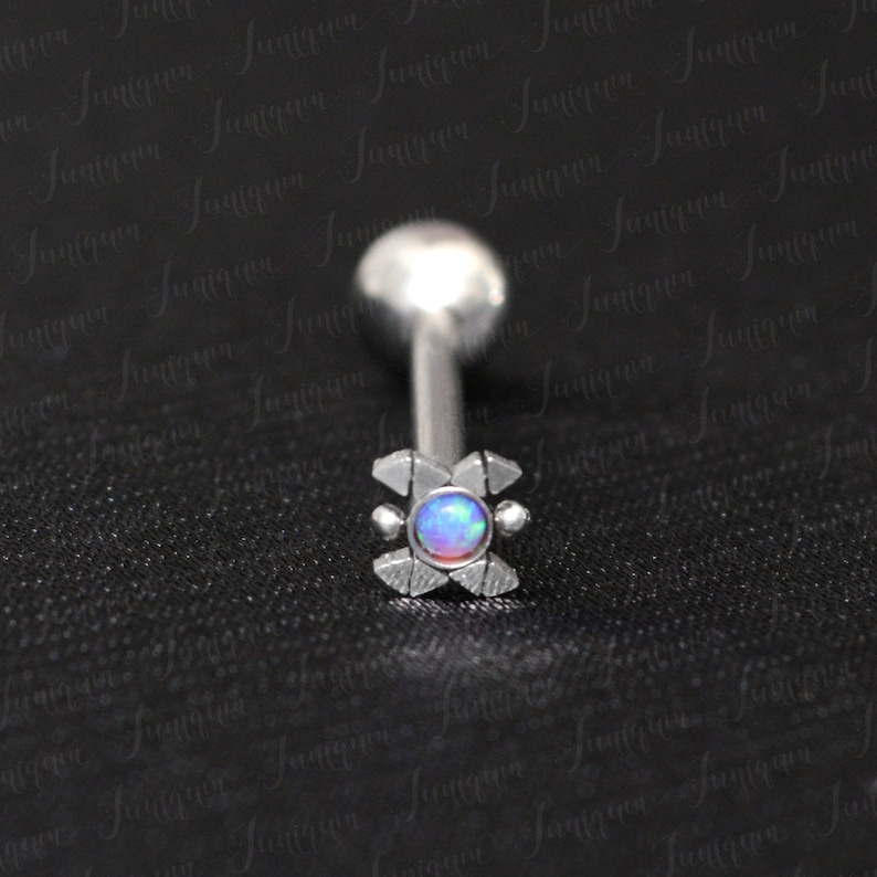 Barbell ring Body piercing jewelry. Barbell piercing Tongue piercing Surgical steel tongue ring