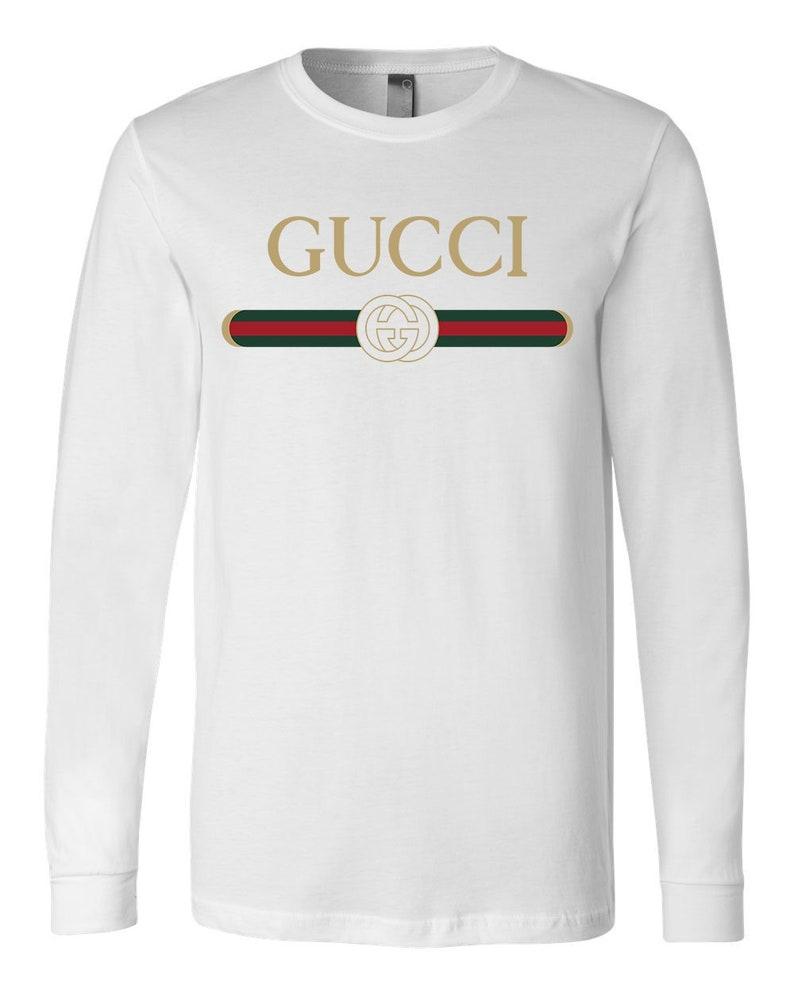 901a26d2716 Vintage Gucci Long Sleeve T-shirt Mens Gucci Tshirt Gift Tee