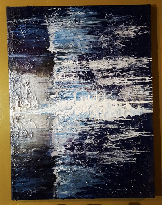 Textured Painting On Canvas Metallic Abstract Art Spray Paint Art Modern Art Texture Art Contemporary Art 40 X 30 Metallic Large Painting